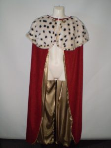 Kings robe, delux royal cloak/cape