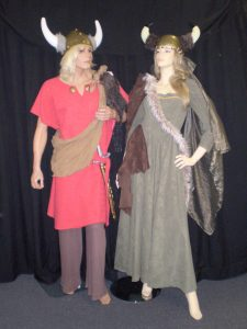 Male and female viking costumes