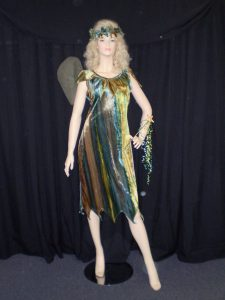 Green forest fairy or elf costume