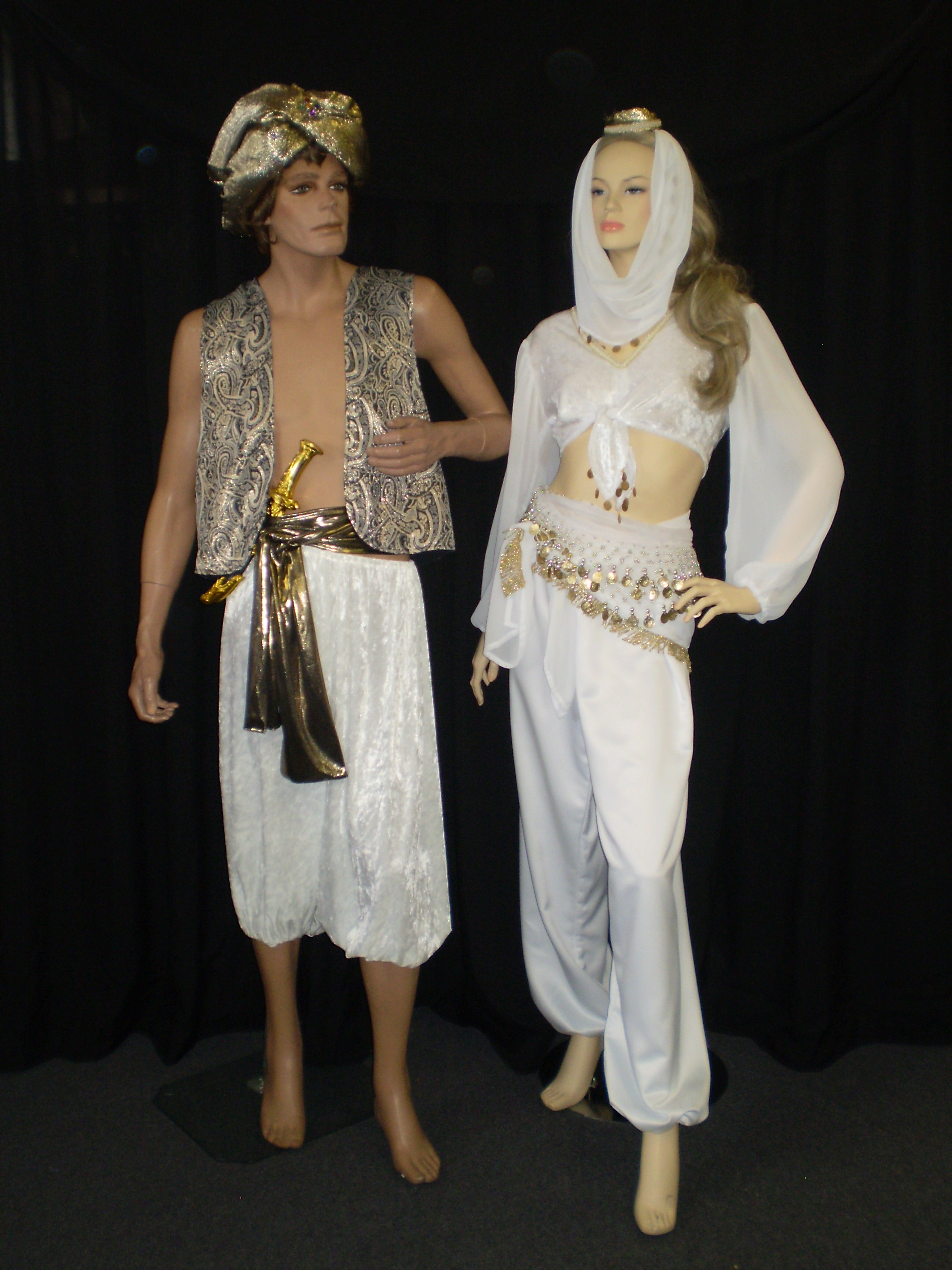 pin gold and sold white arabian native blanket breastplate costume