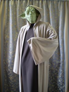 Yoda Star Wars costume, cape, gown and Yoda mask