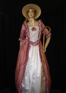 Long traditional Bow Peep style costume with shepherds crook