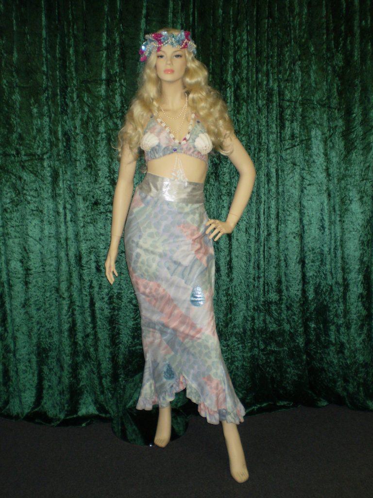 mermaid costume with shell bra