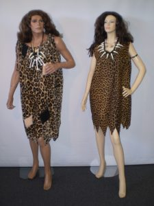 Caveman & Cave woman costumes in plus sizes