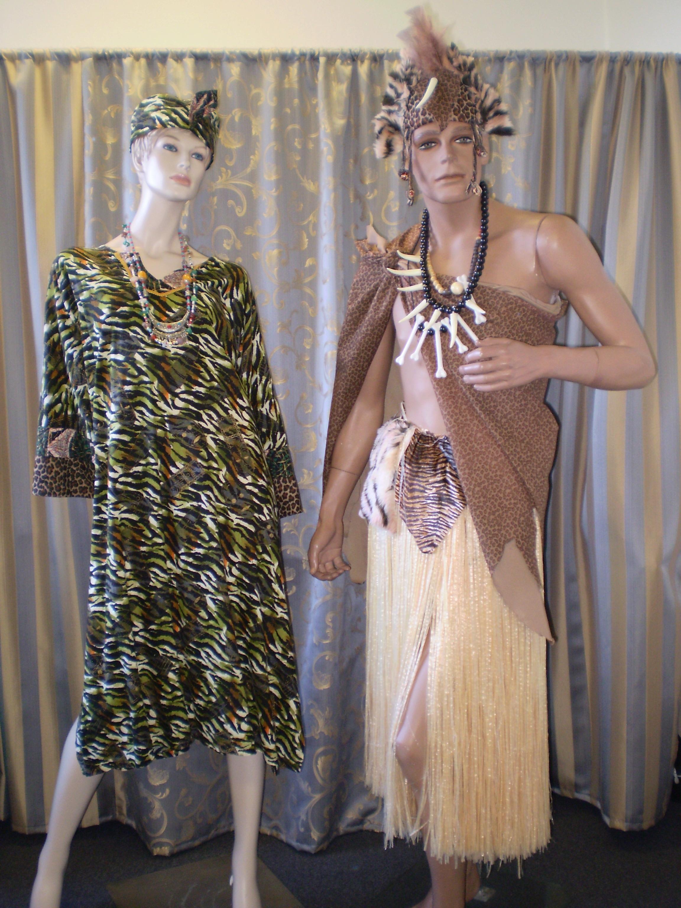 Prehistoric Caveman, Tarzan & Jane Jungle Costumes - Jan 2017