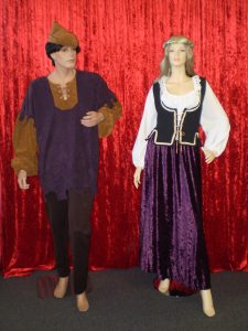 Male & Female Medieval peasant costumes