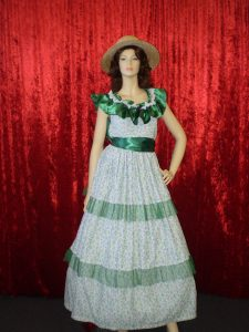 Scarlet O'hara floral hooped dress movie costume