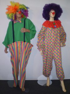 Clown costumes and Clown wigs