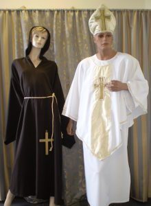 Pope and Monk costumes