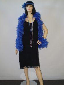 Black plus sized fringed Gatsby dress