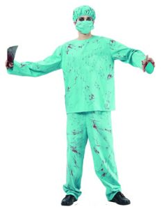Blood spattered surgeon zombie costume