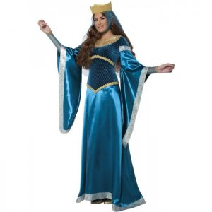 Teal Blue maid Marion