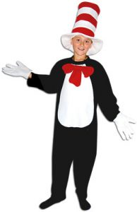 Cat in the hat book character costume