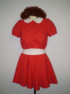 Child's Annie costume dress and wig