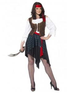 Pirate lady with vest, blouse and skirt to buy