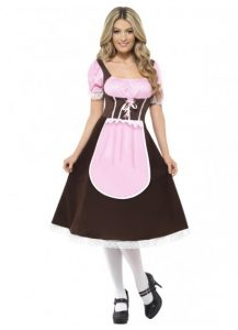 Pink and brown German wench costume