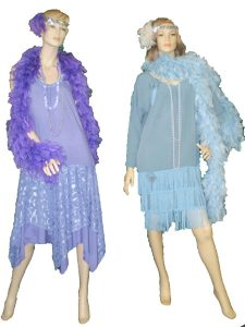 1920's ladies lavender & blue