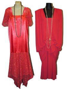 Peach 1920's dresses