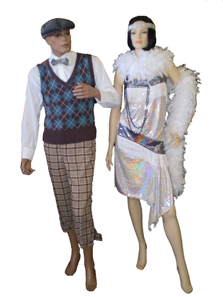 Mens And Womens 1920 S Costumes Gangster Gatsby Fashion