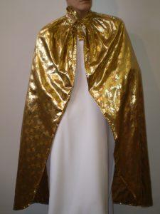 Gold star print cape