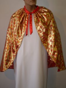 Gold cape with red stars