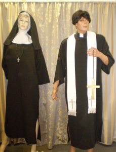 Safari Missionary priest and nun costumes