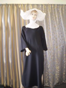 Flying nun costume, 70's TV character