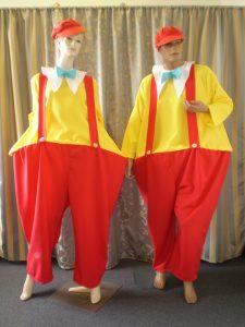 Tweedle Dee & Dum costumes