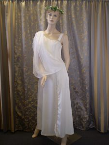 White Roman Goddess costume