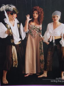 men's and women's pirate costumes