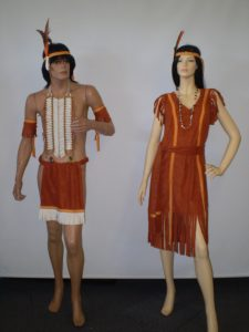 Male & Female Wild West Indian costumes