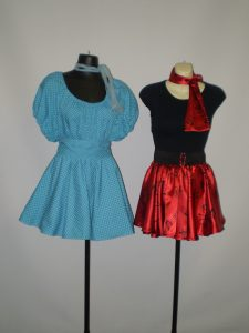 1950's costumes with short skirts