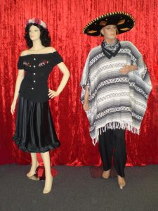Male and female Mexican costumes