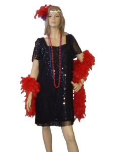 Black sequin plus size 1920's Gatsby dress