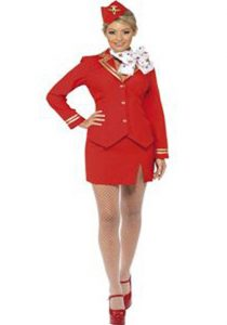 Red Air hostess uniform to buy