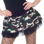 Camouflage army mini skirt. Army uniforms for women.