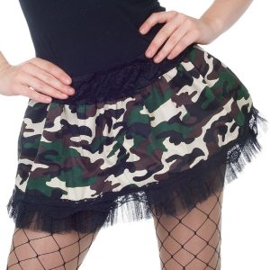 Camouflage army mini skirt