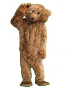Brown teddy bear costume
