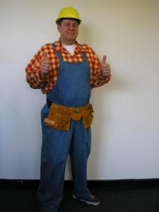 Adults Bob the builder costume