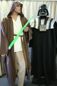 Jedi And Darth Vader Star Wars movie costumes