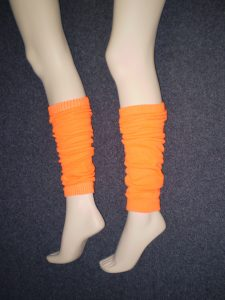 1980's orange leg warmers