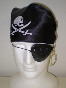Pirate bandanna & eyepatch