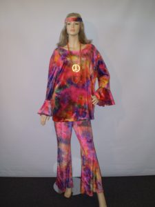 60's, 70's women's tie dye costume from our Sydney store.