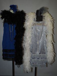 Blue and silver 1920's dresses