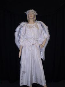 Long Angel costume loose will fit up to plus sizes
