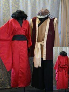 Geisha Kimono & Samurai Warrior costume