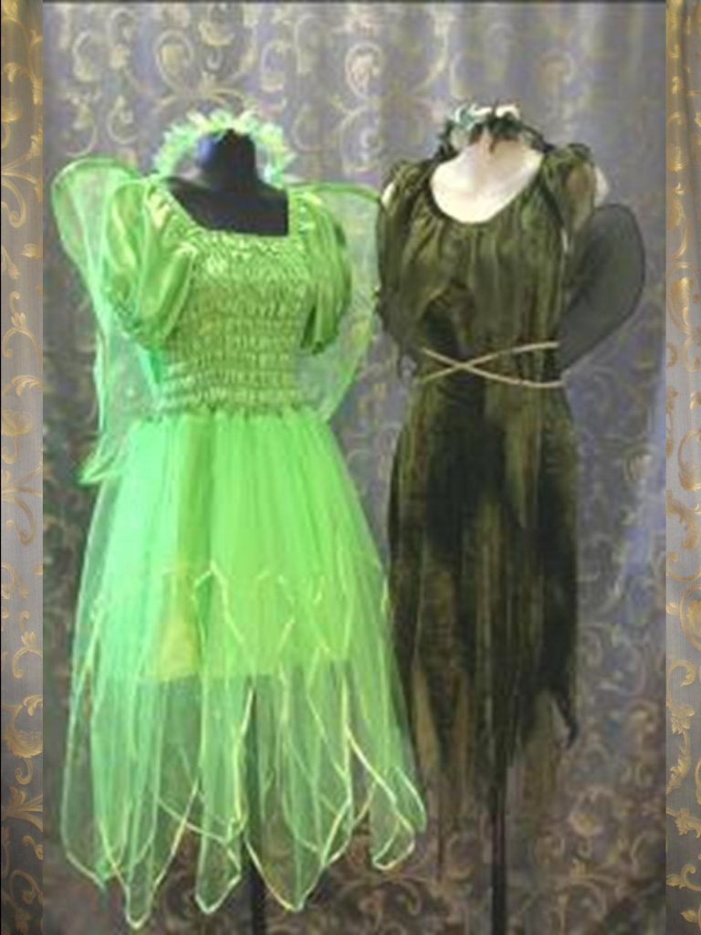 Adult green fairy costumes