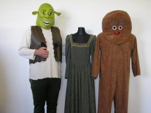 Shrek, Fiona & Gingerbread man