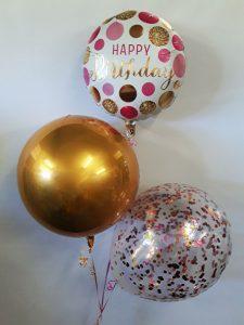 Modern Birthday Girl Balloon Bouquet