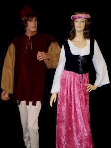 Medieval peasant costumes for men & women